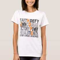 Hope Word Collage Kidney Cancer T-Shirt