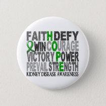 Hope Word Collage Kidney Disease Pinback Button