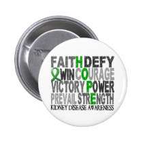 Hope Word Collage Kidney Disease Pinback Button