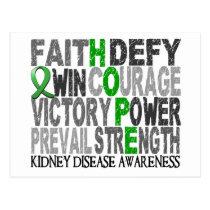 Hope Word Collage Kidney Disease Postcard