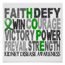 Hope Word Collage Kidney Disease Poster