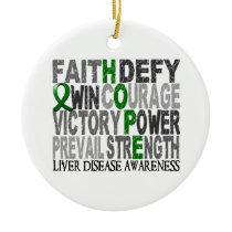 Hope Word Collage Liver Disease Ceramic Ornament