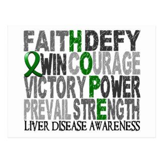 Hope Word Collage Liver Disease Postcard