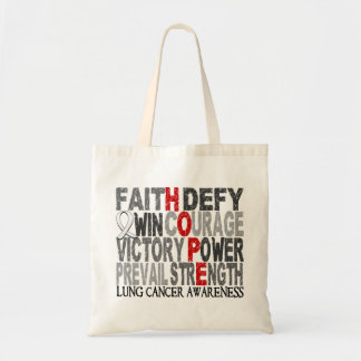 Hope Word Collage Lung Cancer Tote Bag
