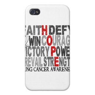 Hope Word Collage Lung Cancer iPhone 4/4S Cases