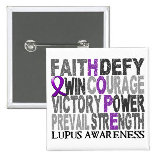 Hope Word Collage Lupus Pins