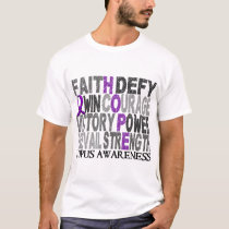Hope Word Collage Lupus T-Shirt
