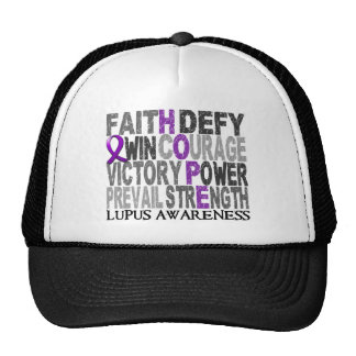 Hope Word Collage Lupus Trucker Hat