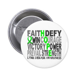 Hope Word Collage Lyme Disease 2 Inch Round Button