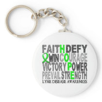 Hope Word Collage Lyme Disease Keychain