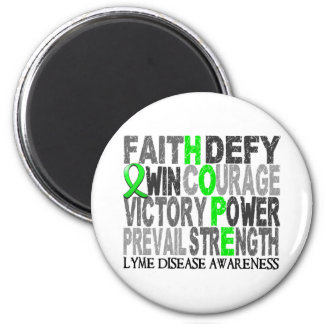 Hope Word Collage Lyme Disease 2 Inch Round Magnet