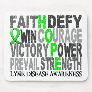 Hope Word Collage Lyme Disease Mouse Pad