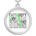 Hope Word Collage Lyme Disease Necklaces