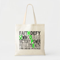 Hope Word Collage Lyme Disease Tote Bag