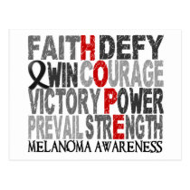 Hope Word Collage Melanoma Postcard