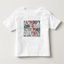 Hope Word Collage Melanoma Toddler T-shirt