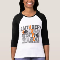 Hope Word Collage Multiple Sclerosis T-Shirt