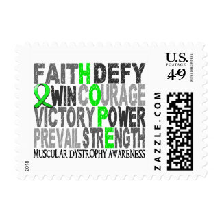 Hope Word Collage Muscular Dystrophy Postage Stamp