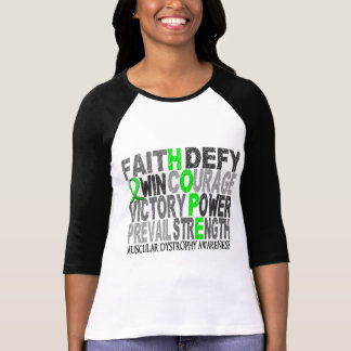 Hope Word Collage Muscular Dystrophy Shirt