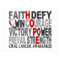 Hope Word Collage Oral Cancer Postcard
