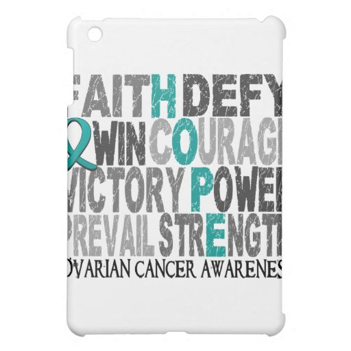 Hope Word Collage Ovarian Cancer iPad Mini Cases