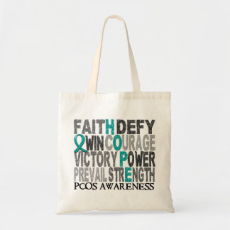 Hope Word Collage PCOS Budget Tote Bag