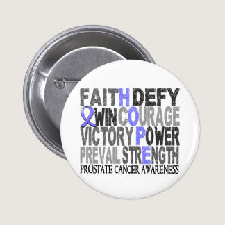 Hope Word Collage Prostate Cancer Pinback Button