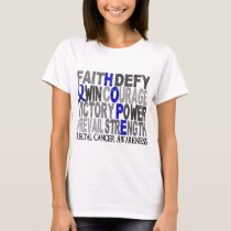 Hope Word Collage Rectal Cancer T-Shirt