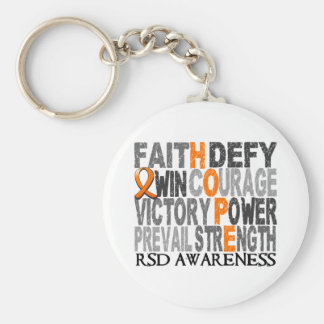 Hope Word Collage RSD Basic Round Button Keychain