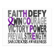 Hope Word Collage Sarcoidosis Postcard