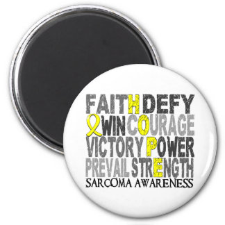 Hope Word Collage Sarcoma 2 Inch Round Magnet