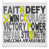 Hope Word Collage Sarcoma Poster