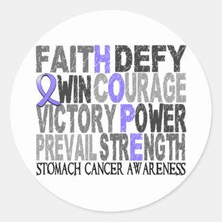 Hope Word Collage Stomach Cancer Round Sticker