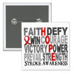 Hope Word Collage Stroke Pins