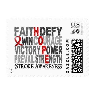 Hope Word Collage Stroke Postage Stamp