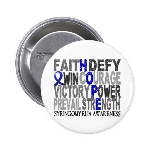 Hope Word Collage Syringomyelia Pinback Button