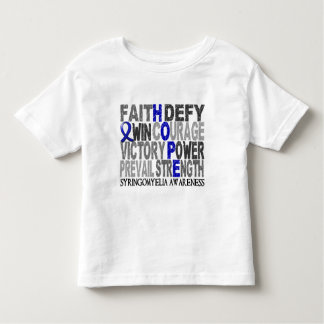 Hope Word Collage Syringomyelia Toddler T-shirt