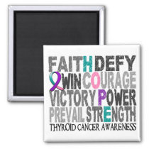 Hope Word Collage Thyroid Cancer Magnet