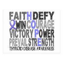 Hope Word Collage Thyroid Disease Postcard