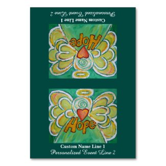 Hope Word Inspirational Angel Custom Table Tents Table Number