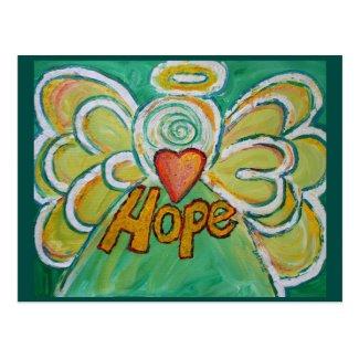Hope Word Inspirational Angel Postcard