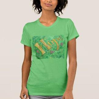 Hope Word Painting Inspirational Custom Shirts