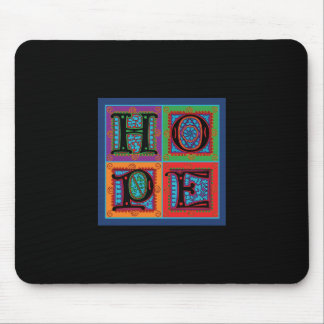 Hope Word Typography Mouse Pad