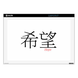 HOPE (xi'wang) in Chinese Characters Laptop Decals