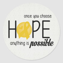 Hope (Yellow) Classic Round Sticker