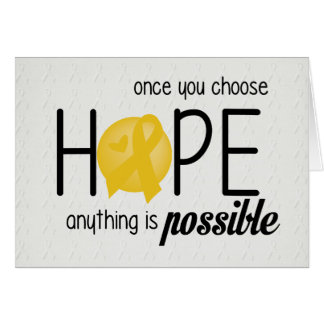 Hope (Yellow) Greeting Card