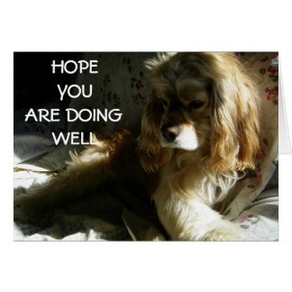 """""""HOPE YOU ARE DOING WELL"""" GREETING CARD"""