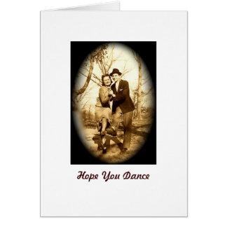 Hope You Dance Greeting Card