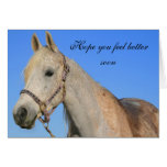 Hope you feel better horse greeting card