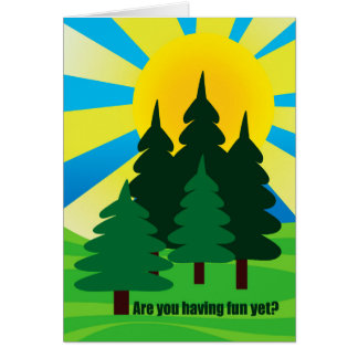 Hope You re Having Fun at Summer Camp for Child Greeting Cards